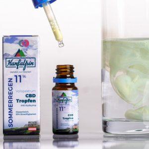 Hanfalpin - wasserlösliche CBD Tropfen 11% - 10ml